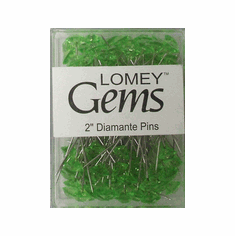 LOMEY® Gems <br>Diamante Pins <br>Apple Green