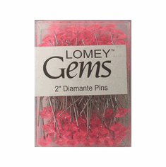 LOMEY® Gems <br>Diamante Pins <br>Pink