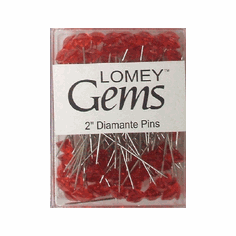 LOMEY® Gems <br>Diamante Pins <br>Red