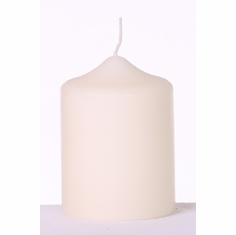 "Pillar Candle<br>2.8"" x 4"" <br> Ivory or White <br>12/Package"