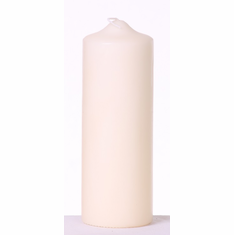 "Pillar Candle <br> 2.8"" x 8""<br> Ivory or White <br>12/Package"