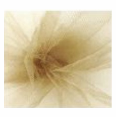 "Tulle - Antique Gold <br>6"" x 25 Yard Roll"