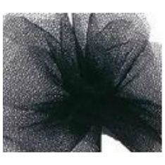 "Tulle - Black <br>6"" x 25 Yard Roll"