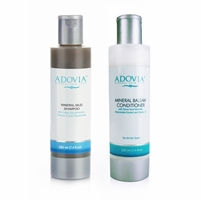 Adovia Dead Sea Mud Shampoo and Dead Sea Salt Conditioner Duo Set