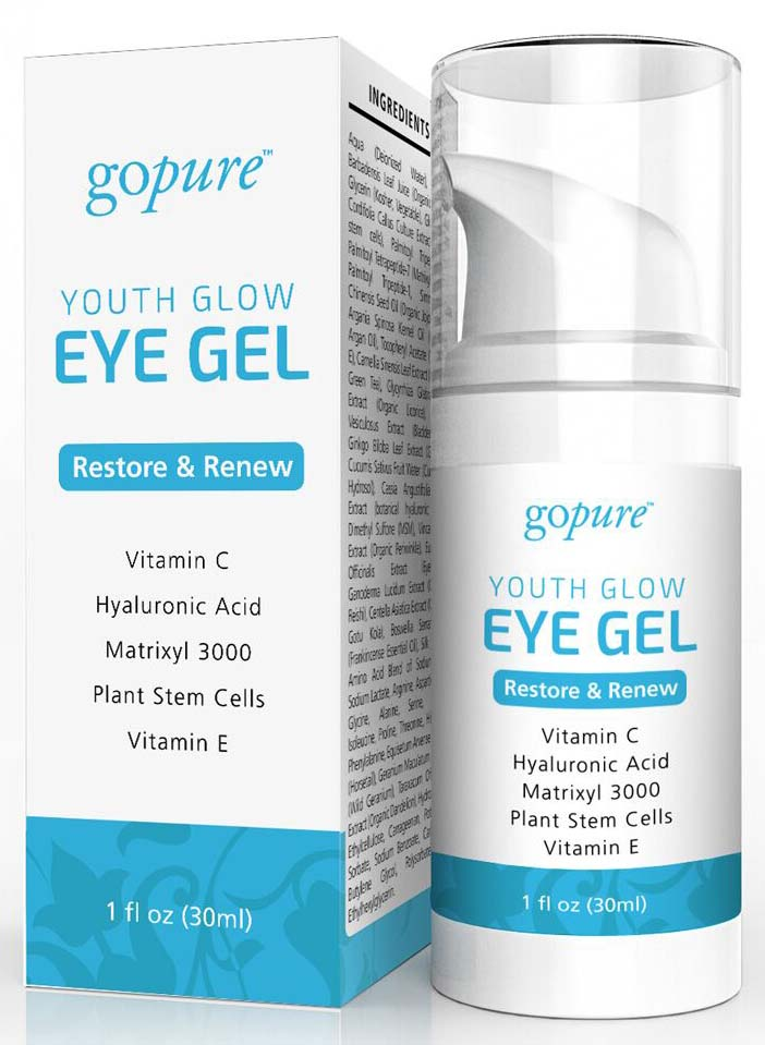 gopure youth glow eye gel 1oz