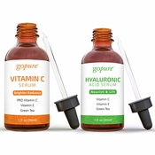 goPure Facial Serum Duo Kit - Vitamin C Serum and Hyaluronic Acid Serum