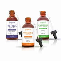 goPure Facial Serum Trio Kit - 1 of Each - Vitamin C Serum, Hyaluronic Acid Serum and Retinol Serum