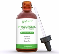 goPure Hyaluronic Acid Serum with Vitamin C, Green Tea & Vitamin E