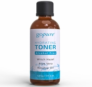 goPure Hydrating Facial Toner with Witch Hazel, Aloe Vera & Rosehip Oil - 6oz