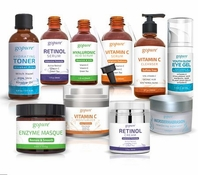 goPure Premium Complete Skin Care System - Every Step Covered -10 Products