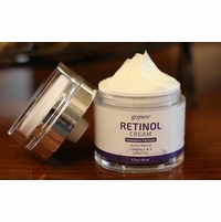 goPure Retinol Facial Cream - Active Retinol with Vitamins B&E & Green Tea - Airless Jar - 1.7oz