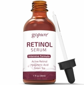 goPure Retinol Facial Serum - Active Retinol with Jojoba Oil, Organic Aloe and Green Tea