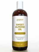goPURE Sweet Almond Carrier Oil 16oz with Pump