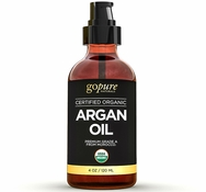 Virgin Organic Argan Oil for Hair & Skin - Cold-Pressed 100% Pure Moroccan Oil - USDA Certified Organic - Pure Argan Oil for Skin, Hair, & Nails
