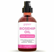 Rosehip Oil - 100% Pure Rosehip Seed Oil with Pump by goPURE Naturals