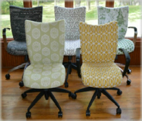 office chairs, upholstered desk chairs, custom office chairs, cute