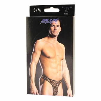 Leopard Print Thong - Small/Medium