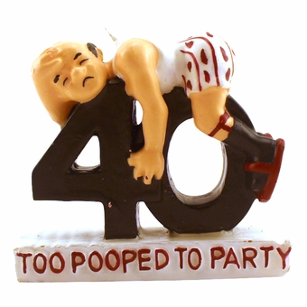 Too Pooped to Party Candle