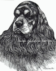 "American Cocker Spaniel ""Black and Tan"" Limited Edition Print"