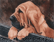 "Bloodhound ""Puppy on the Fence"" Limited Edition Print"