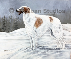 "Borzoi ""In The Snow"""