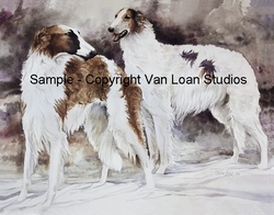 "Borzoi ""Pair In The Snow"""