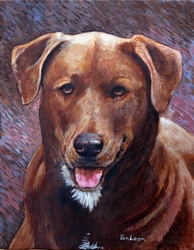 Chocolate Dog, Custom Portrait