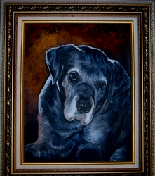 Custom Portrait Acrylic, Your Dog  11x14 - with frame
