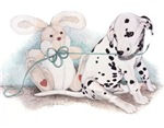 "Dalmatian ""Puppy and Rabbit"""