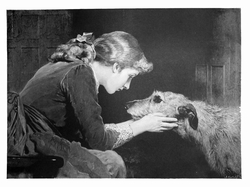 "SOLD 10/1/2018 Irish Wolfhound Deerhound ""Vintage Engraving Repro"""