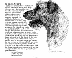 Irish Wolfhound with Verse