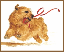 """Norfolk Terrier """"Red Ribbon"""" Limited Edition Print"""