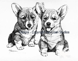 "Pembroke Welsh Corgi ""Puppy Pair"""