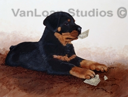 """Rottweiler """"I Can Change a Five"""""""