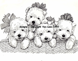 "West Highland White Terriers ""Babies in a Basket"""