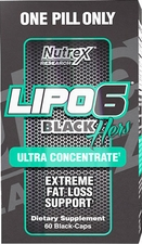 Nutrex Lipo 6 Black Hers Ultra Concentrate 60 Black-Caps