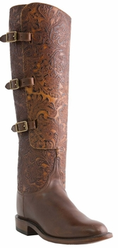 "17"" Ladies Lucchese Classics Chocolate Horse Front Lieutenants L4995"