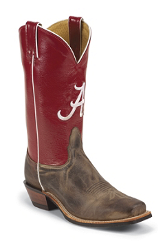 Alabama Crimson Tide Mens Officially Licensed Boots by Nocona MDALA21