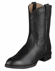 Ariat Mens Heritage Black Roper Leather Boots 10002280