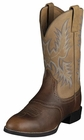 Ariat Mens Heritage Stockman Barrel Brown Leather Boots 10002252