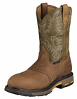 Ariat Mens Pull-On Aged Bark And Army Green Leather Boots 10001191