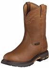 Ariat Mens Pull-On Golden H2O Grizzly Leather Boots 10001197