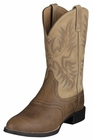 Ariat Mens Stockman Tumble Brown And Beige 10002247