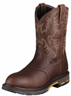 Ariat Mens Workhog Pull-On H2O Dark Copper Leather Boots 10001203