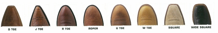 Ariat Toe Shapes