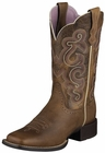Ariat Womens Quickdraw Badlands Wicker Brown Leather Boots 10006304