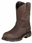 Ariat Workhog Pull-On Oily Distressed Brown H2O Leather Boots 10001200