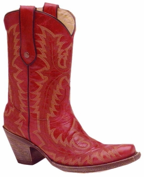Women's Corral Red Stitched Boots G1900