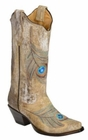 Corral Ladies Embroidered Peacock Western Boots R1110
