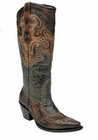 Corral Women's Black Antique Saddle Brown Harness and Studs G1232